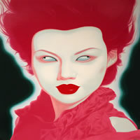 "Feng Zhengjie - Chinese Portrait Series No. 38, 2008, silkscreen, image size: 32"" x 32"", frame size: 43"" x 43"", edition of 200"