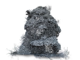 "Huang Zhen - Untitled, 2012, sculpture wire, 43. 5"" x 33 """