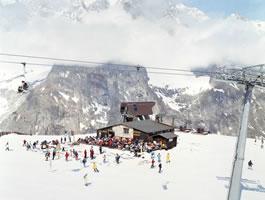 "Massimo Vitali - Courmayeur Mont Blanc, lithograph, 34.5"" x 42.5"""