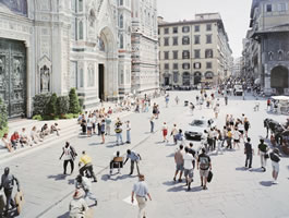 "Massimo Vitali - Firenze Via Via, lithograph, 34.5"" x 42.5"""