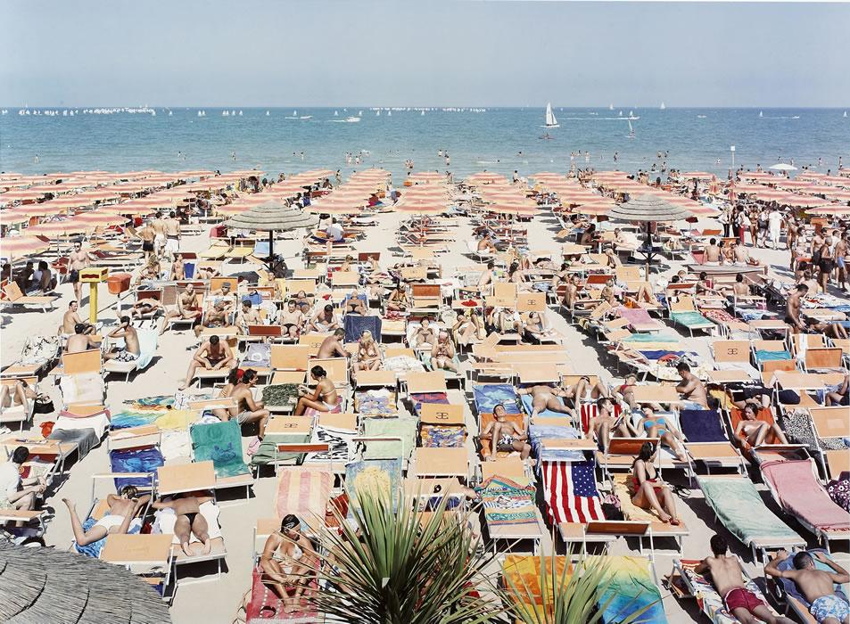 """Massimo Vitali - Papeete Beach Regatta, lithograph, 34.5"""" x 42.5"""""""