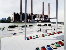 "Massimo Vitali - VW Lernpark, lithograph, 34.5"" x 42.5"""