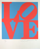 "Robert Indiana - From The Book of Love, (There are total 23 units) screen prints, paper size: 20"" x 24"", framed: 29"" x 32"", edition of 200"