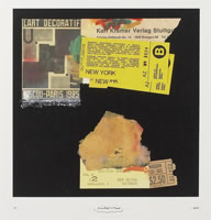 "Richard Meier - Silkscreen Collage (mix media), 2011, sheet size: 30"" x 30"", framed size: 34""x 35"", signed numbered dated in pencil by the artist, edition of 50"