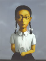 "Zhang Xiaogang, lithograph, size: 54.3""x 40.9"", edition # 13/58"