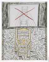 "David Hockney, The Perspective Lesson, 1984, lithograph on paper, 29.9"" x 22.2"", edition# 47/50"