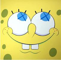 """Kaws, Sponge Bob Yellow, 2010, nine color screen print on Rives BFK paper, 20"""" x 20"""", edition of 100"""