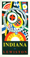 "Robert Indiana, Indiana in Lewiston, 1991, lithograph in colors on wove paper, 46.6"" x 26.3"", edition of 150"