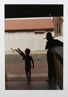 Ralph Gibson, Boy with Baguette, Les Saintes, photograph, 16 x 20 inches