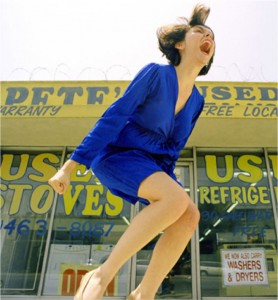 Alex Prager, Wrath #1 (Blue) 2005, chromogenic print, 36 x 32 inches