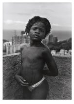 "Andres Cypriano, ""Marcelo # 4, from the portfolio ""Vocinha- An Orphan Town"", 1999, gelatin silver print, framed - 28 1/3 x 22 1/3 inches, size - 17 1/2 x 11 1/2 inches"