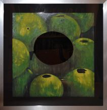 "Donald Sultan, ""Green Apples and Eggs"",  silkscreen, frame - 46 1/2 x 46 1/2 inches, size -  36 x 36 inches, edition #s 59/90, 53/90, 52/90, 51/90"