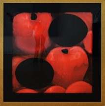 "Donald Sultan, ""Red Apples and Eggs"", silkscreen, frame - 46 1/2 x 46 1/2 inches, size - 36 x 36 inches, edition # 9/10"