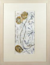 Martha Sedwick, Untitled, acrylic and pencil on paper, frame - 33 1/4 x 25 1/2 inches, size - 19 x 11 inches