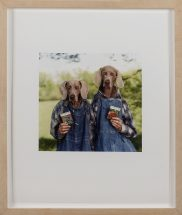 "William Wegman, ""Broccoli / Radish 1996"", cibachrome print, framed - 15 1/2 x 12 3/4 inches. size - 14 x 11 inches"