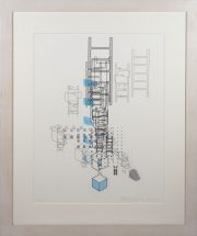Yoko Motomiya, Untitled 2002, silkscreen on vellum, framed - 32 x 27 inches size - 24 x 18 inches, edition #2/15