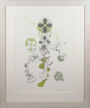Yoko Motomiya, Untitled 2002, silkscreen on vellum, framed - 32 1/4 x 27 inches size - 24 x 18 inches, edition #2/15