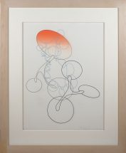 Yoko Motomiya, Untitled 2002, silkscreen on vellum, framed - 33 1/4 x 27 inches size - 24 x 18 inches, edition #3/15