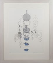 Yoko Motomiya, Untitled 2002, silkscreen on vellum, framed - 32 1/2 x 27 inches size - 24 x 18 inches, edition #2/12
