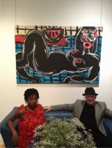 Lumane Luma and Greg Smith. Painting by Jeffrey Hargrave.